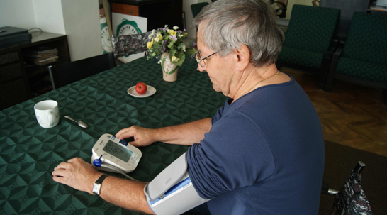 Košice - Pilot testing - wireless blood pressure measurment